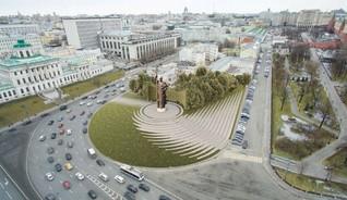 Проект благоустройства Боровицкой площади с памятником князю Владимиру
