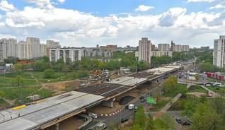 Строительство эстакады в Москве