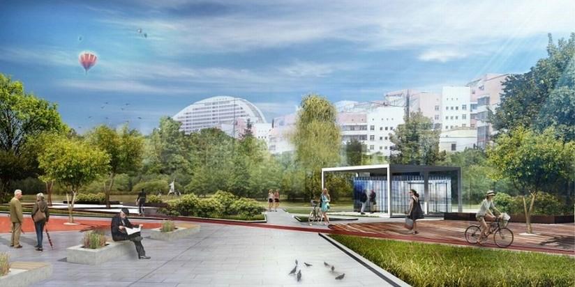 НаХодынском поле подготовлена площадка под центр искусства