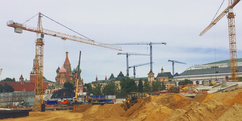 Собянин: парк «Зарядье» будет на100% создан в 2018-ом году