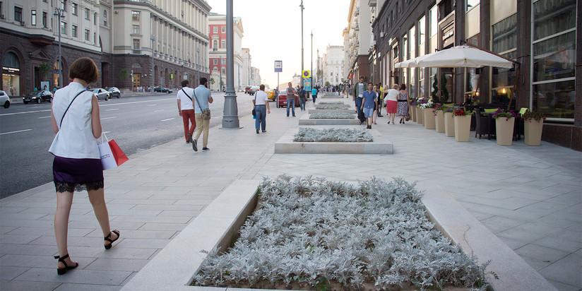 Тверская улица после работ по благоустройству