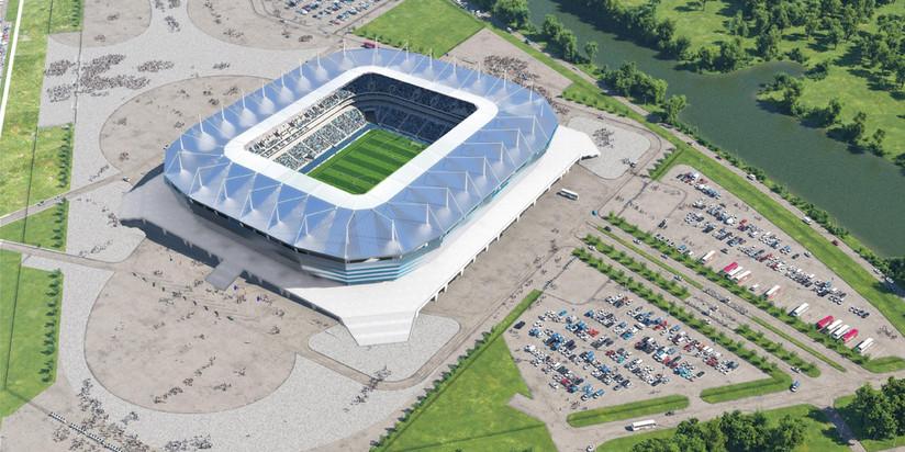 Настройплощадке стадиона кЧМ-2018 вКалининграде смонтировали крышу