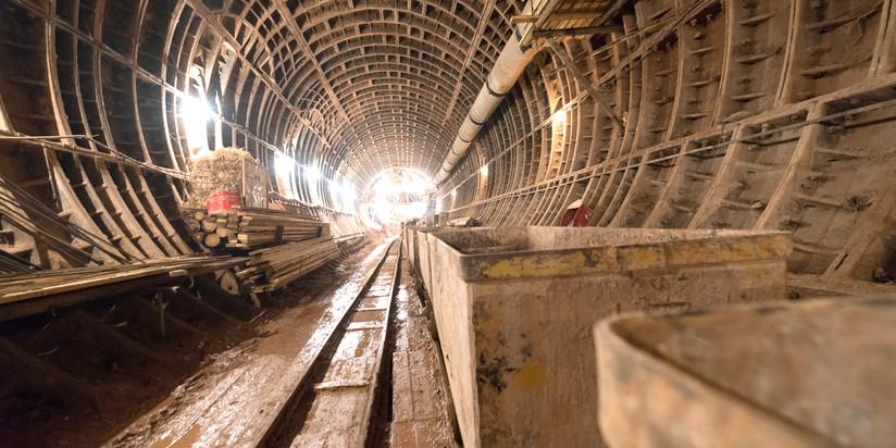 Строительство участка Люблинско-Дмитровской линии метро