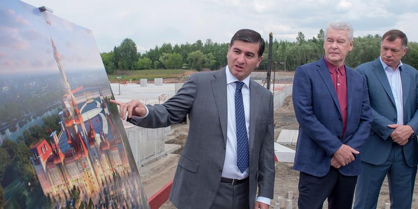 Олег Антосенко: строительство парка развлечений вНагатинской пойме вступило восновную фазу