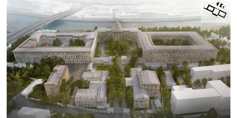 Сооружение бывшей академии РВСН вцентральной части Москвы превратят вотель