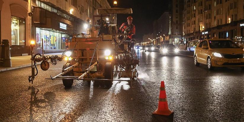 Новая дорожная разметка появится наТверской улице