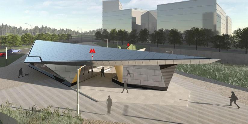 Стал известен дизайн станции метро «Ольховая» и«Столбово» в новейшей столицеРФ