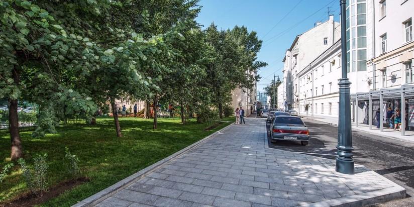 Улица Сретенка после благоустройства