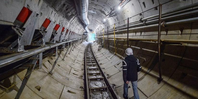 """Строительство станции """"Аминьевское шоссе"""" БКЛ метро"""