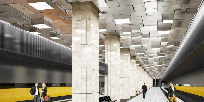 Проект станции Зюзино БКЛ метро