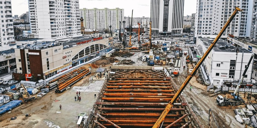 Строительство станции Стромынка БКЛ метро