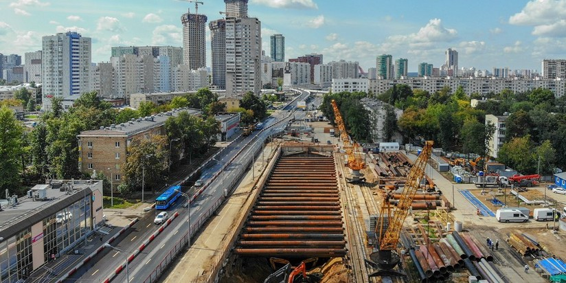 Строительство тоннеля между станциями Карамышевская и Улица Народного Ополчения БКЛ метро