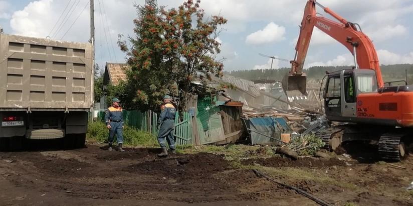 Ликвидация последствий наводнения в Тулуне Иркутской области