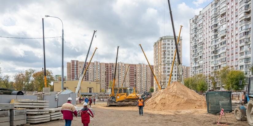 """Строительство станции """"Лефортово"""" БКЛ метро"""
