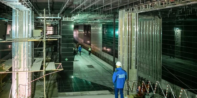 Строительство станции Лефортово БКЛ метро