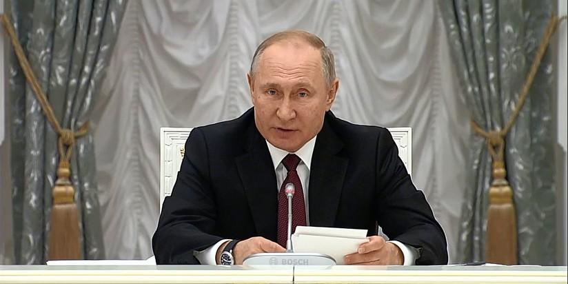 Владимир Путин на заседании Совета по стратегическому развитию и нацпроектам