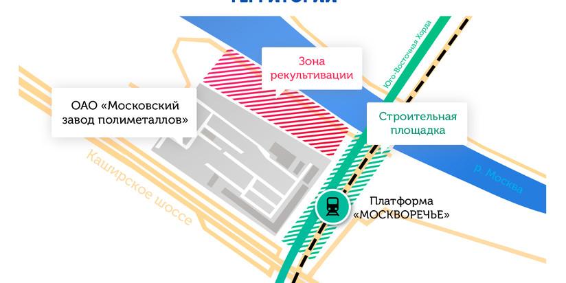 Зона радиации на участке строительства ЮВХ