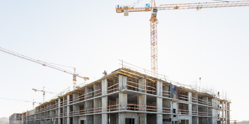 Строительство жилья, стройка