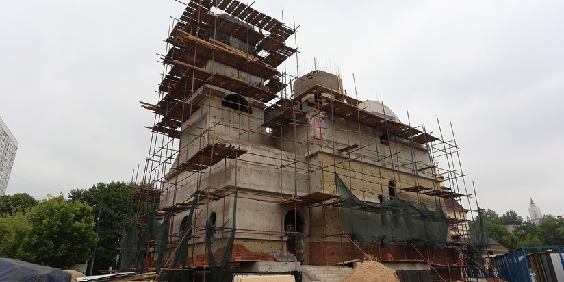 Строительство главного храма МЧС