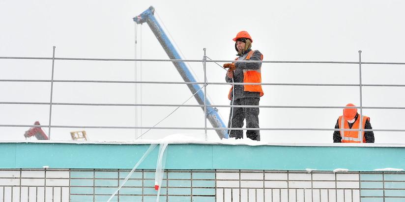 Строительство коронавирусного центра в новой Москве