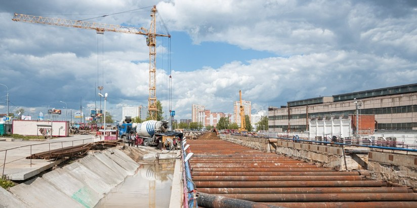 Строительство станции Лианозово Люблинско-Дмитровской линии метро
