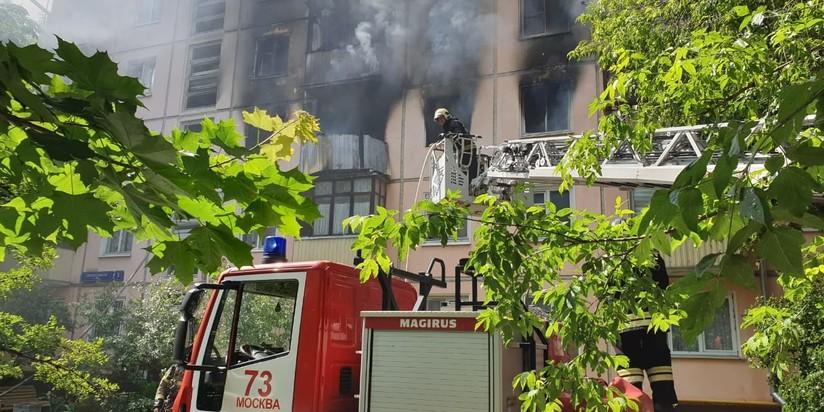 Пожар в пятиэтажке на ул. Проходчиков