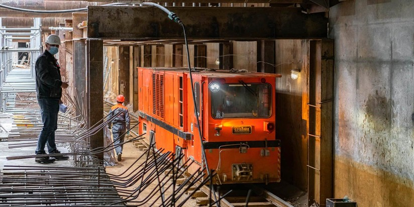 Строительство станции Зюзино БКЛ метро
