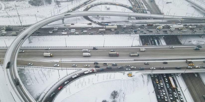 Развязка на пересечении МКАД с Волоколамским шоссе