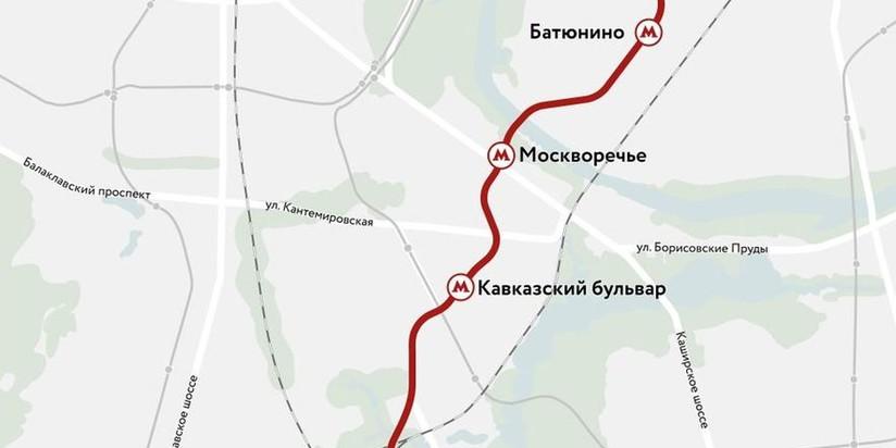 Трассировка бирюлевской линии метро