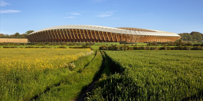 Деревянный стадион в графстве Глостершир