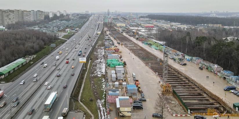 Строительство станции Славянский мир Троицкой линии метро