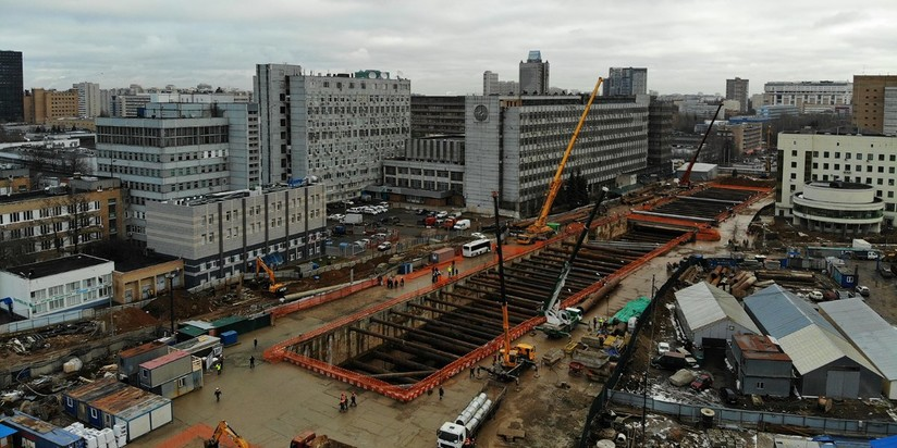 """Строительство станции """"Воронцовская"""" БКЛ метро"""